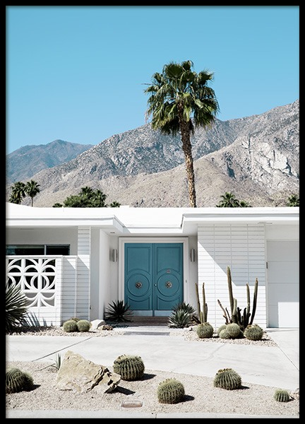 Blue Door Palm Springs Poster in the group Prints / Photographs at Desenio AB (10794)