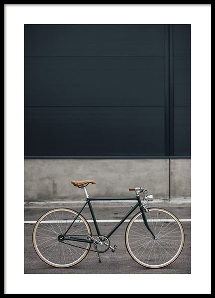 Green Retro Bike Poster in the group Prints / Photographs at Desenio AB (10804)