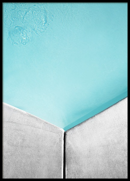 Pool Geometric No1 Poster in the group Prints / Photographs at Desenio AB (10810)