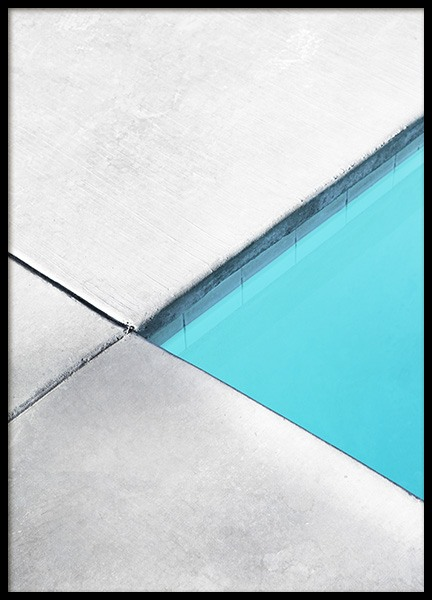 Pool Geometric No2 Poster in the group Prints / Photographs at Desenio AB (10811)
