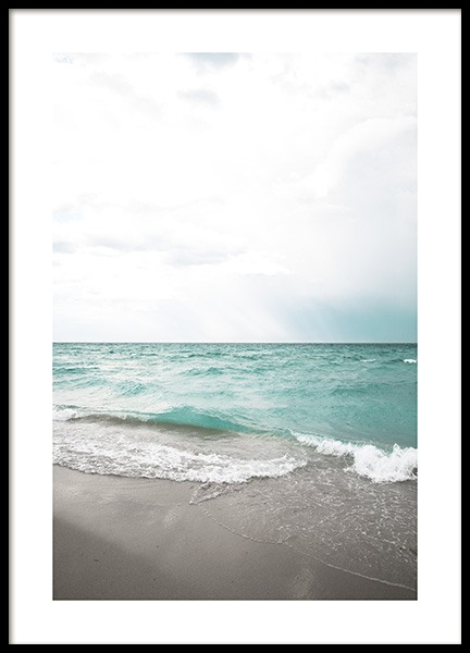 Turquoise Beach Poster in the group Prints / Nature at Desenio AB (10820)