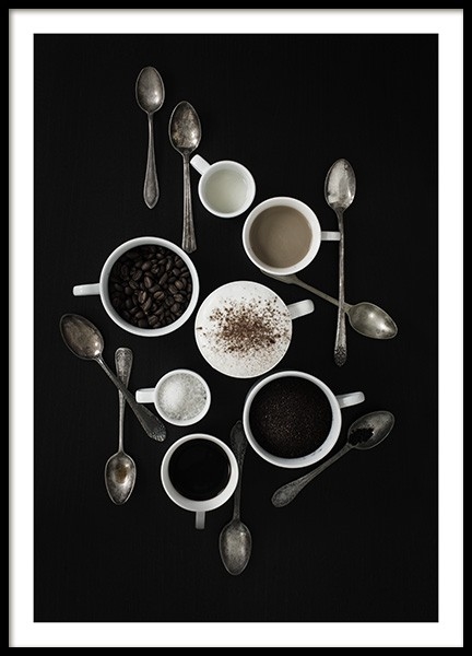 Coffee Still Life Poster in the group Prints / Kitchen at Desenio AB (10823)