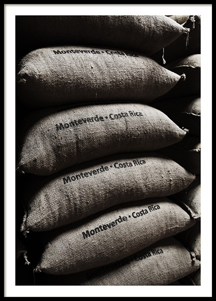 Coffee Bean Bags Poster in the group Prints / Kitchen at Desenio AB (10826)