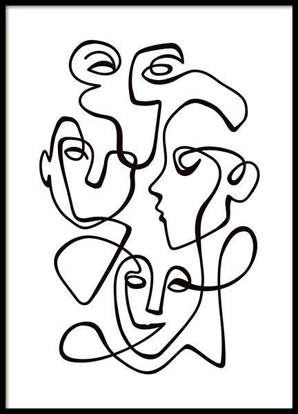 Abstract Line People No2 Poster in the group Prints / Illustrations at Desenio AB (10841)