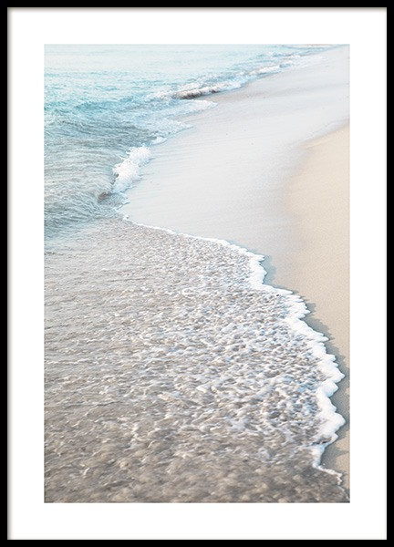 Blue Beach Wave Poster in the group Prints / Nature prints / Tropical at Desenio AB (10849)