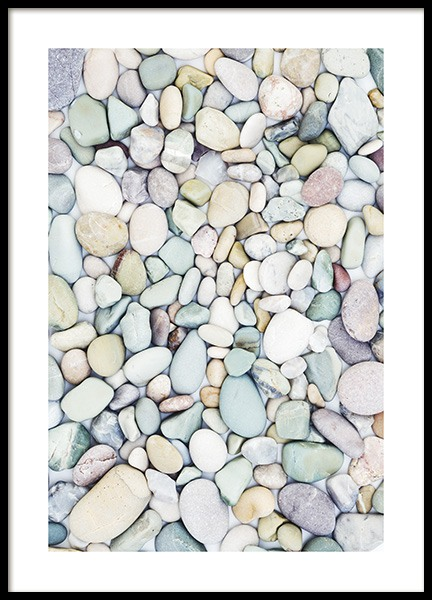 Pastel Stones Poster in the group Prints / Photographs at Desenio AB (10851)