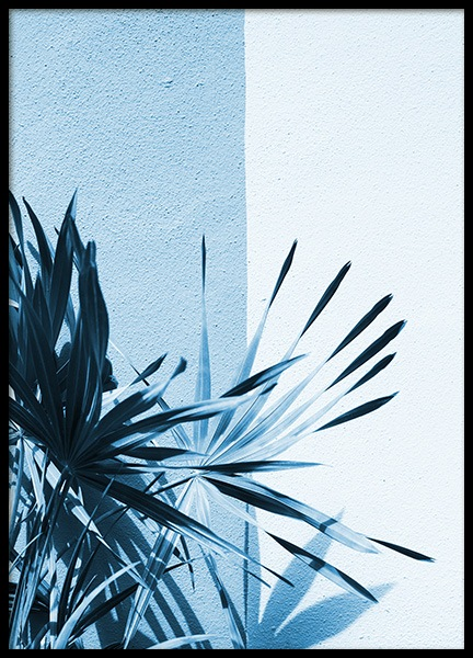 Ice Blue Palm Leaf Poster in the group Prints / Floral at Desenio AB (10853)