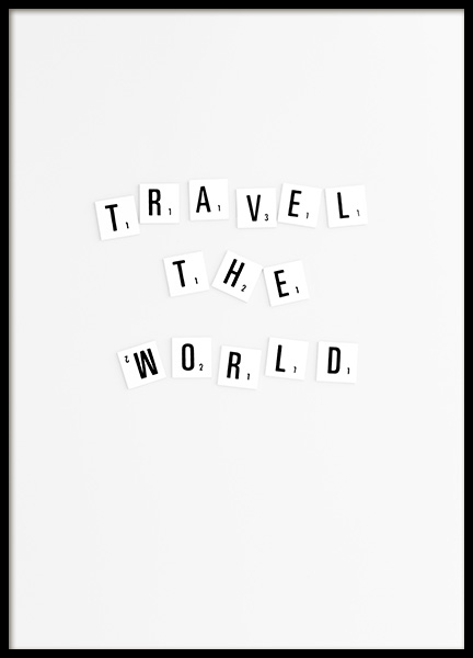 Travel Poster in the group Prints / Typography & quotes at Desenio AB (10863)