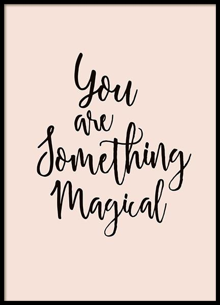 Something Magical Poster in the group Prints / Typography & quotes at Desenio AB (10868)