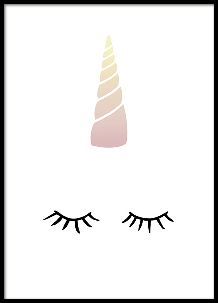 Unicorn Lashes Poster in the group Prints / Kids at Desenio AB (10871)