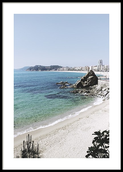 Scenic Beach View Poster in the group Prints / Sizes / 50x70cm | 20x28 at Desenio AB (10891)
