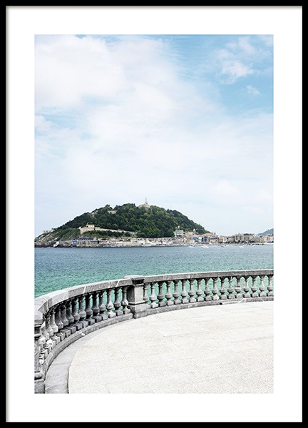 Seafront San Sebastian Poster in the group Prints / Nature at Desenio AB (10892)