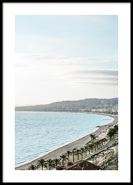 Beach View in Nice Poster in the group Prints / Nature prints at Desenio AB (10897)