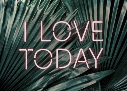 I Love Today Neon Poster in the group Prints / Floral at Desenio AB (10904)