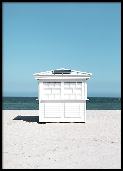 White Beach House Poster in the group Prints / Photographs at Desenio AB (10965)