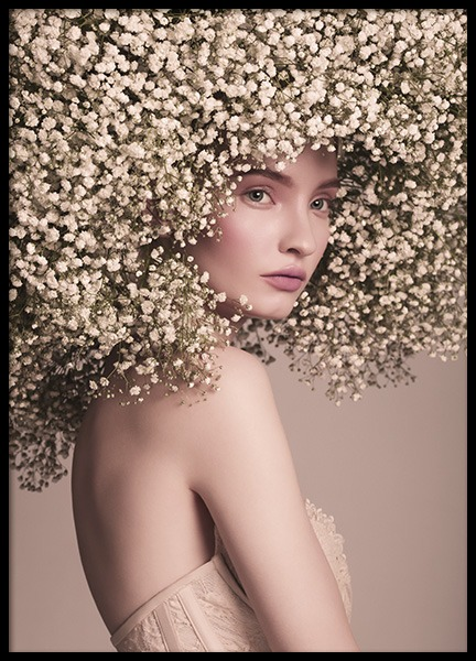 Flower Hair Poster in the group Prints / Fashion at Desenio AB (10995)