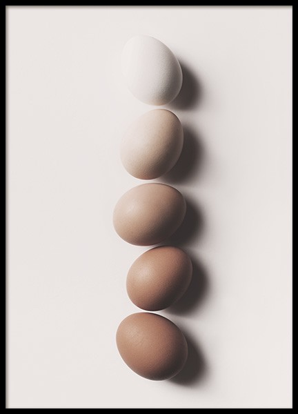Eggs in a Row Poster in the group Prints / Kitchen at Desenio AB (10997)