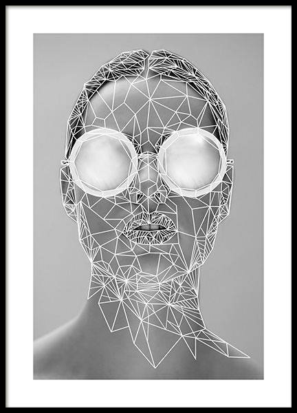 Geometric Portrait Poster in the group Prints / Graphical at Desenio AB (11013)
