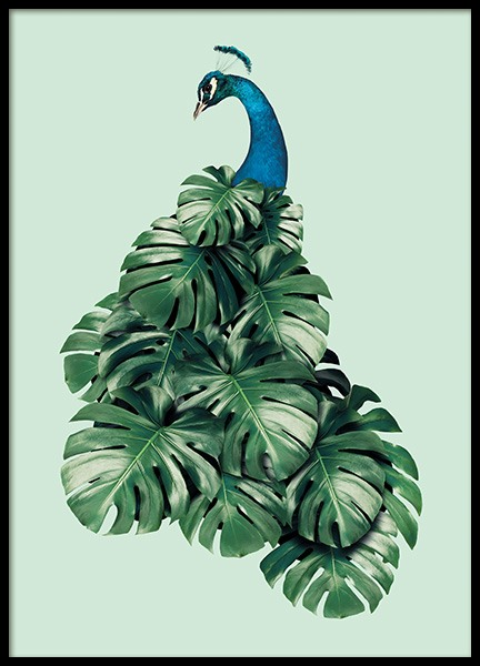 Monstera Bird Poster in the group Prints / Sizes / 50x70cm | 20x28 at Desenio AB (11019)