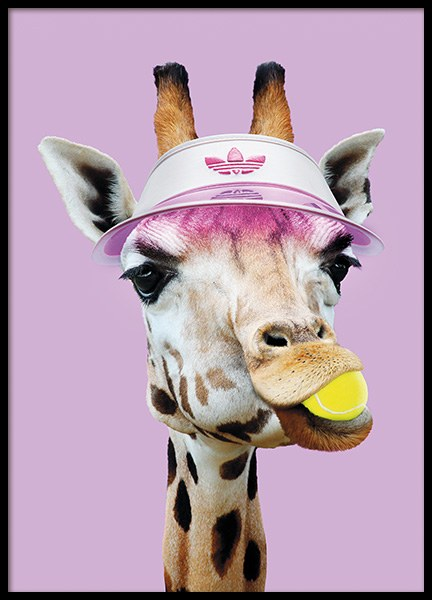 Tennis Giraffe Poster in the group Prints / Animals at Desenio AB (11020)