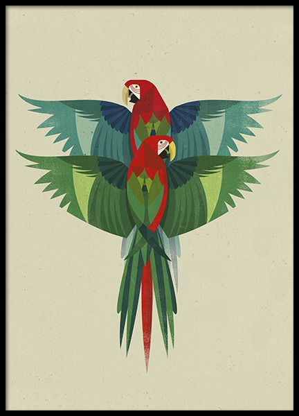 Vintage Ara Poster in the group Prints / Animals at Desenio AB (11024)