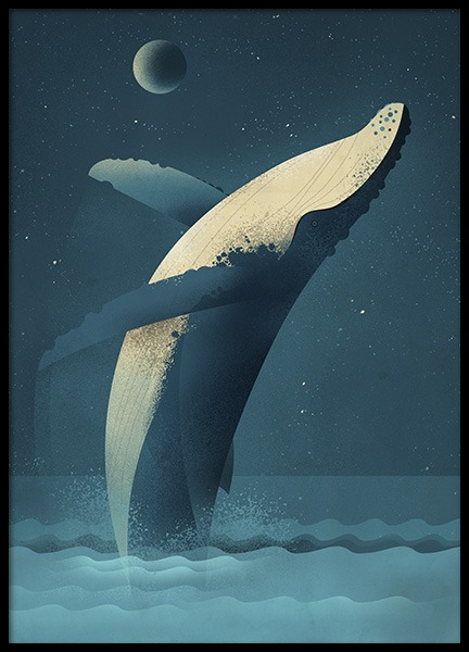 Vintage Humpback Poster in the group Prints / Animals at Desenio AB (11025)