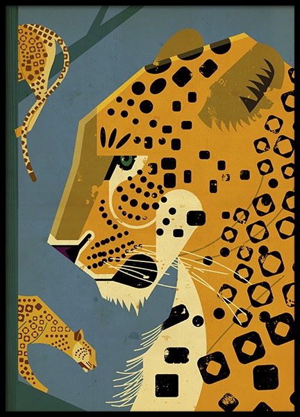 Vintage Leopard Poster in the group Prints / Animals at Desenio AB (11026)