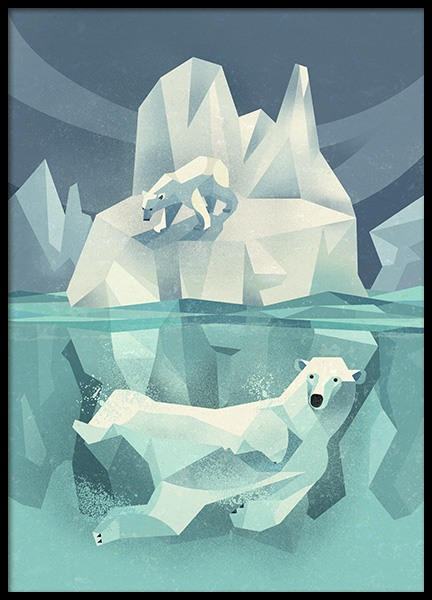 Vintage Polar Bear Poster in the group Prints / Kids posters at Desenio AB (11027)