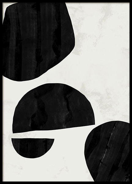Abstract Shapes No1 Poster in the group Prints / Art prints / Abstract art at Desenio AB (11032)