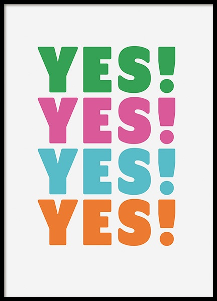 Yes Yes Poster in the group Prints / Typography & quotes at Desenio AB (11039)