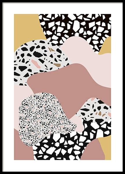 Terrazzo Collage No2 Poster in the group Prints / Graphical at Desenio AB (11064)