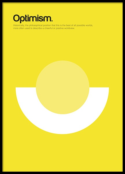 Optimism Poster in the group Prints / Graphical at Desenio AB (11090)