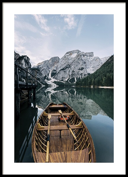Boat in a Lake Poster in the group Prints / Nature at Desenio AB (11109)