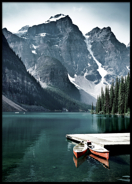 Two Canoes Poster in the group Prints / Nature at Desenio AB (11110)