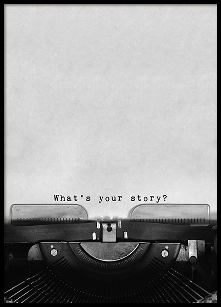 What's Your Story Poster in the group Prints / Typography & quotes at Desenio AB (11127)