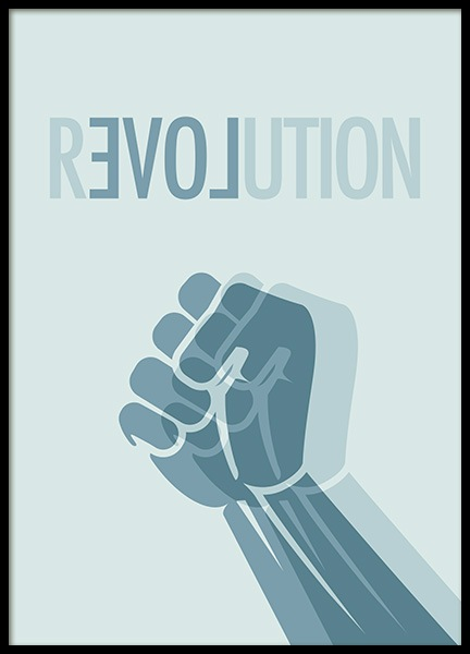 Revolution Blue Poster in the group Prints / Graphical at Desenio AB (11134)