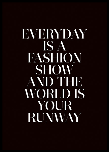 The World is Your Runway Poster in the group Prints / Typography & quotes at Desenio AB (11139)