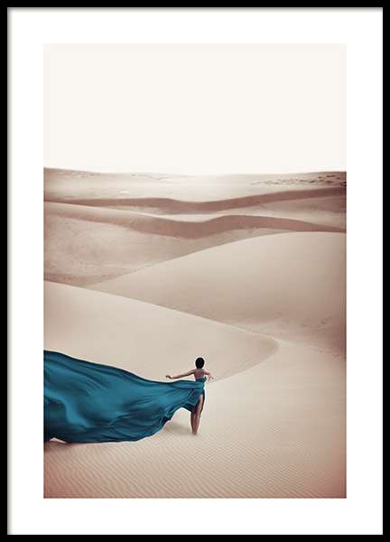 Woman in Blue Dress Poster / Nature prints at Desenio AB (11144)