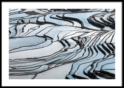 Terraced Fields Poster in the group Prints / Sizes / 50x70cm | 20x28 at Desenio AB (11159)