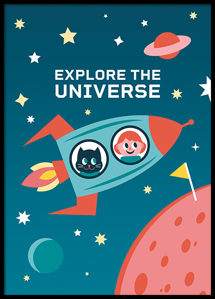 Explore the Universe Poster in the group Prints / Kids wall art at Desenio AB (11165)