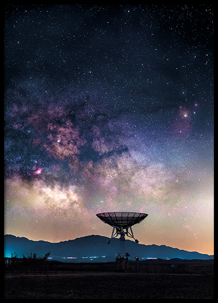 Radio Telescope Poster in the group Prints / Nature at Desenio AB (11168)