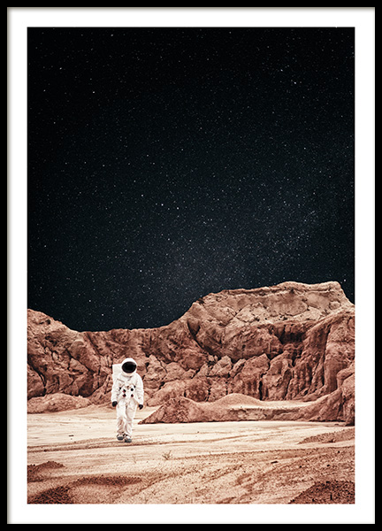 Walking on Mars Poster in the group Prints / Nature at Desenio AB (11170)