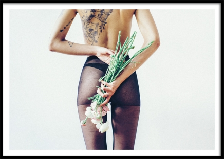 Flowers and Tights Poster in the group Prints / Photographs at Desenio AB (11195)