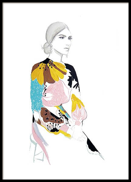 Fading into Valentino Poster in the group Prints / Illustrations at Desenio AB (11198)