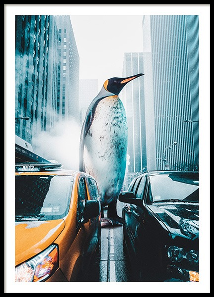 Penguin City Poster in the group Prints / Photographs at Desenio AB (11208)