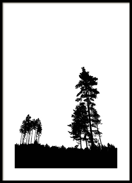 Pine Trees Poster in the group Prints / Nature at Desenio AB (11221)