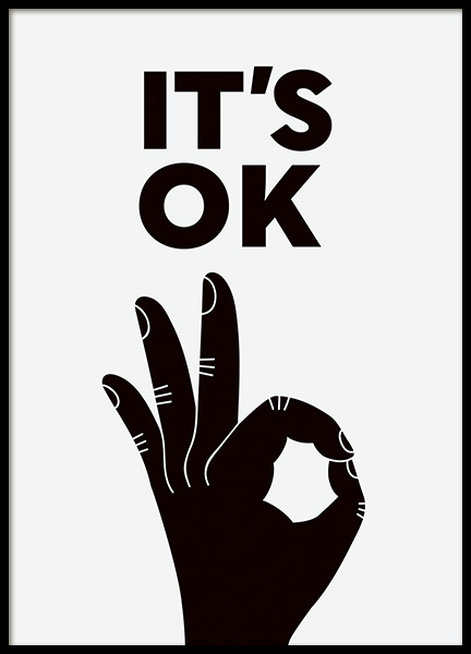 It's OK Poster in the group Prints / Typography & quotes at Desenio AB (11225)