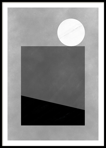 Black & White Shapes No1 Poster in the group Prints / Art prints / Abstract art at Desenio AB (11228)