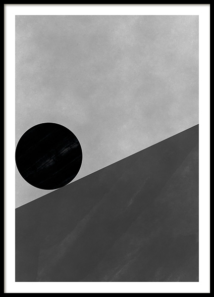 Black & White Shapes No2 Poster in the group Prints / Art prints / Abstract art at Desenio AB (11229)