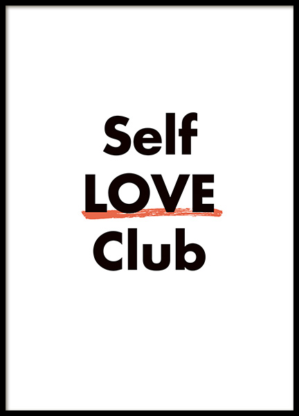 Self Love Club Poster in the group Prints / Typography & quotes at Desenio AB (11236)